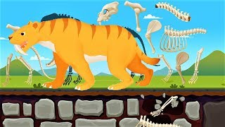 Dinosaur Park 2 - Animal Bones During The Ice Age - Dinosaur games by Yateland