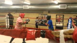 KJ SPARING AT LONNIE YOUNG GYM