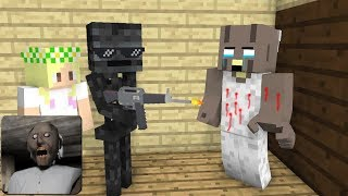 Monster School GRANNY HORROR GAME CHALLENGE 3 Minecraft Animation