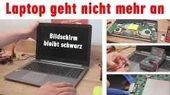 Laptop geht nicht mehr an 💻 Bildschirm bleibt schwarz 👉 öffnen und prüfen
