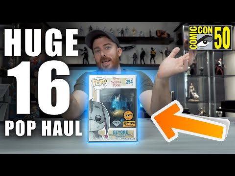 HUGE 16 FUNKO POP HAUL - SDCC MEGASTREAM ANNOUNCEMENT