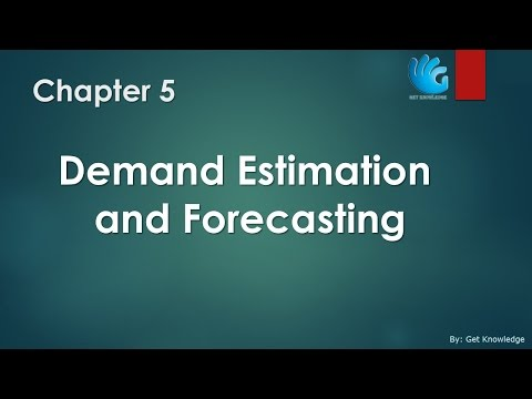 Demand Estimation and Forecasting - Chapter 5   Managerial Economics