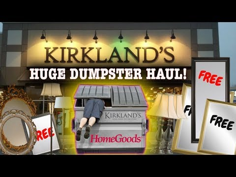 MASSIVE JACKPOT! DUMPSTER DIVING AT KIRKLANDS + HOMEGOODS STORES