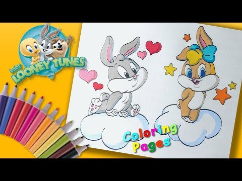 #BabyLooneyTunes Coloring Book Pages #ForKids Coloring. Baby Bugs And Lola Bunny