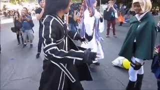 Hatsune Miku Expo 2014 in Los Angeles - Dance Battle: SAO vs. SNK/AOT