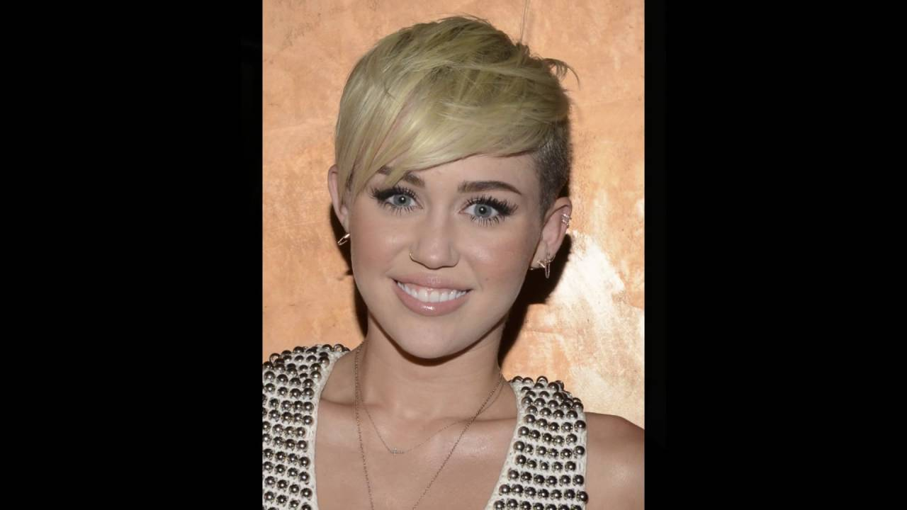 Miley Cyruss Shaved Sides With Pixie Cuts Youtube