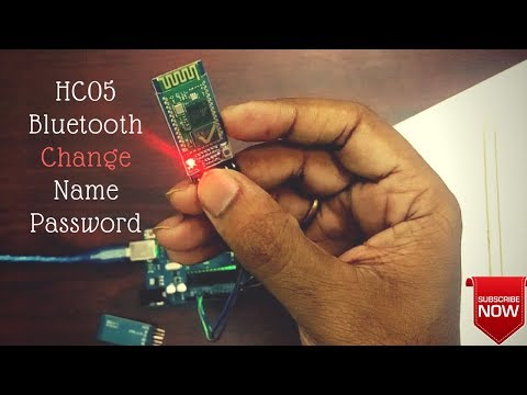 Change Name and Password of HC05 (HC06) Bluetooth Module Arduino