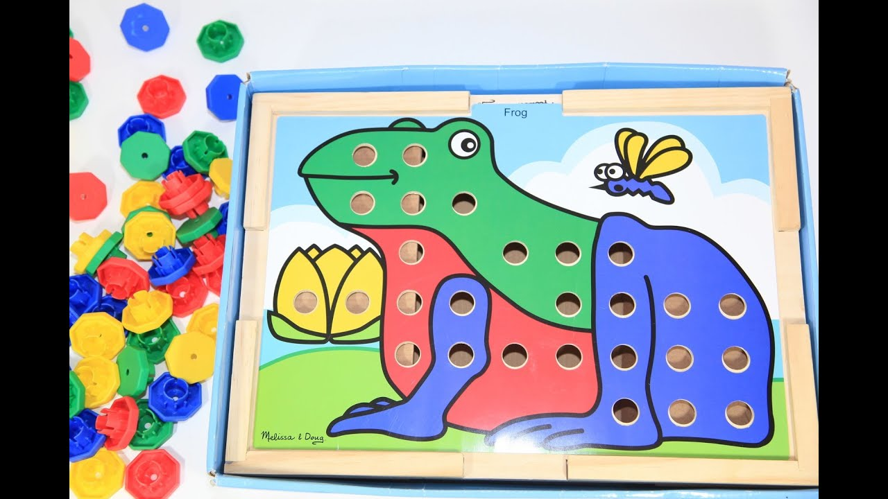 Melissa & Doug Sort and Snap Color Match Toy Puzzle Review - YouTube
