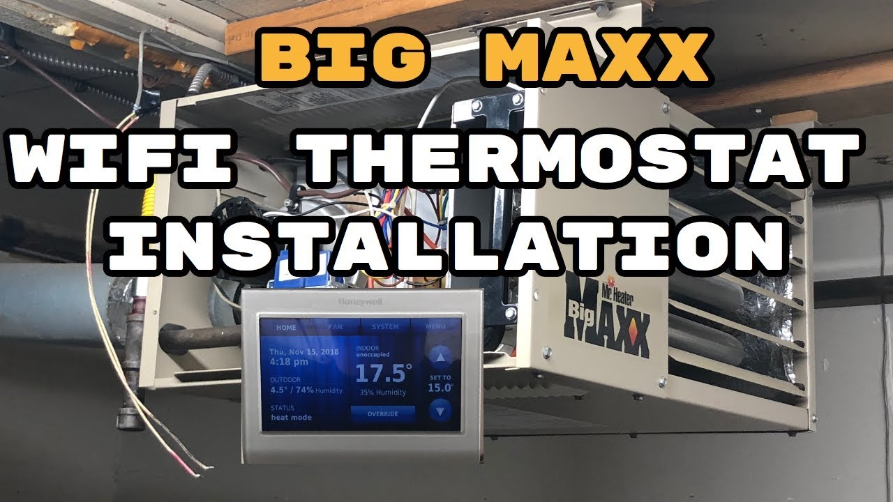 Garage Gym Humidity How To Install Wifi Thermostat To Big Maxx Mr Heater
