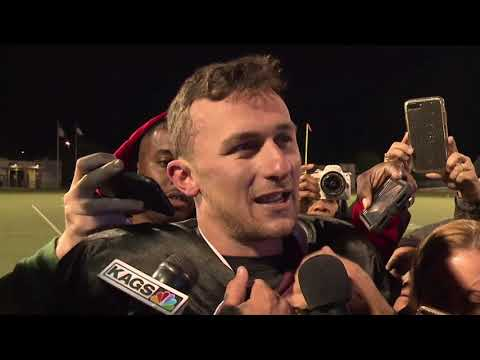 Johnny Manziel Spring League post game scrum