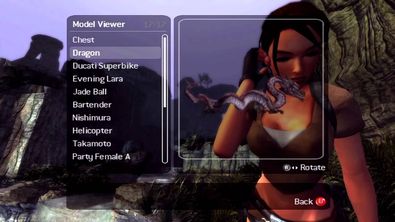 Tomb Raider Legend Walkthrough Extras Outfits Art And Mishaps