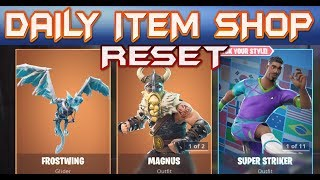 FORTNITE - DAILY ITEM SHOP RESET ( SEPTEMBER 19th ) NEW FROSTWING GLIDER - EMOTES WITH GALAXY SKIN