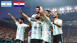 PES 2018 | ARGENTINA vs CROATIA | WORLD CUP 2018 GROUP D | FULL MATCH & GAMEPLAY