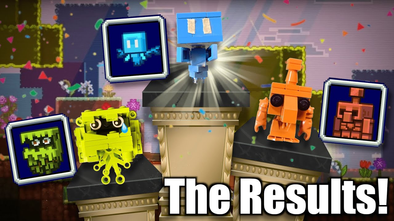 Minecraft Mob Vote explained with LEGO