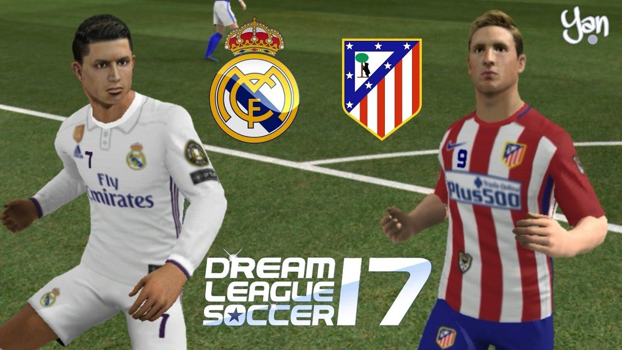 Real Madrid vs Atlético de Madrid • Dream League Soccer 2017 • Semifinal da  Champions League