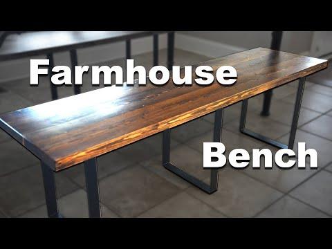 Building an Easy DIY Wooden Farmhouse Bench