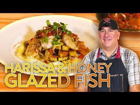 Harissa & Honey Glazed Fish Recipe | Tom Douglas Restaurants Chef Demo - Foodable IO Seattle