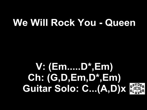 We Will Rock You - Queen - Lyrics - Chords