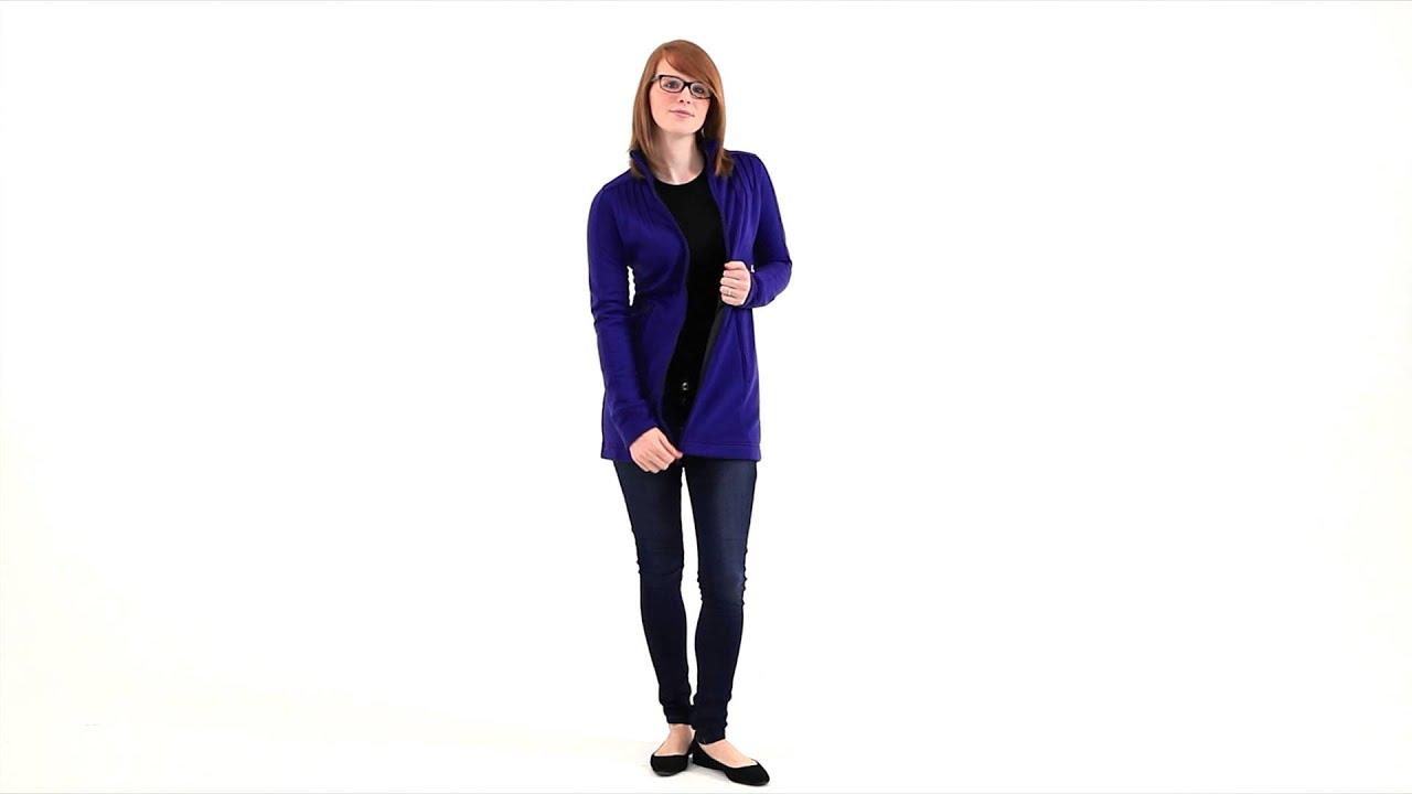 Ibex madigan long fleece jacket women's