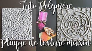 Tuto Polymère : comment réaliser une plaque de texture maison + 2 bijoux