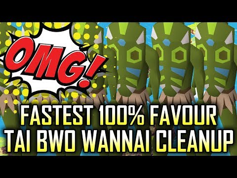 FASTEST FAVOUR | Tai Bwo Wannai Cleanup 2019 | OSRS | Old School Runescape