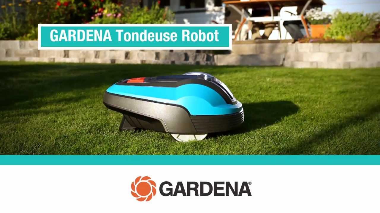 fonctionnement tondeuse robot gardena r40li/r70li - youtube