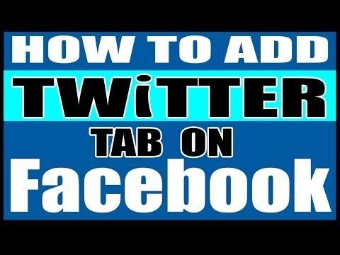 Add twitter tab on facebook fan page