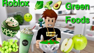i only ate green food for 24 hours challenge | ROBLOX | BLOXBURG