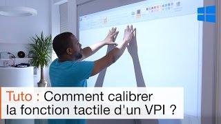 Calibrer la fonction tactile du vidéoprojecteur interactif SPE-400WIT