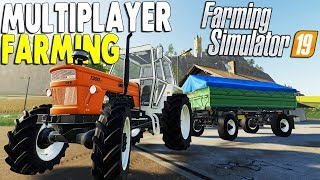 Multiplayer Farming, Logging Crew | NEW USA & GERMAN MAP | Farming Simulator 19 Multiplayer Gameplay