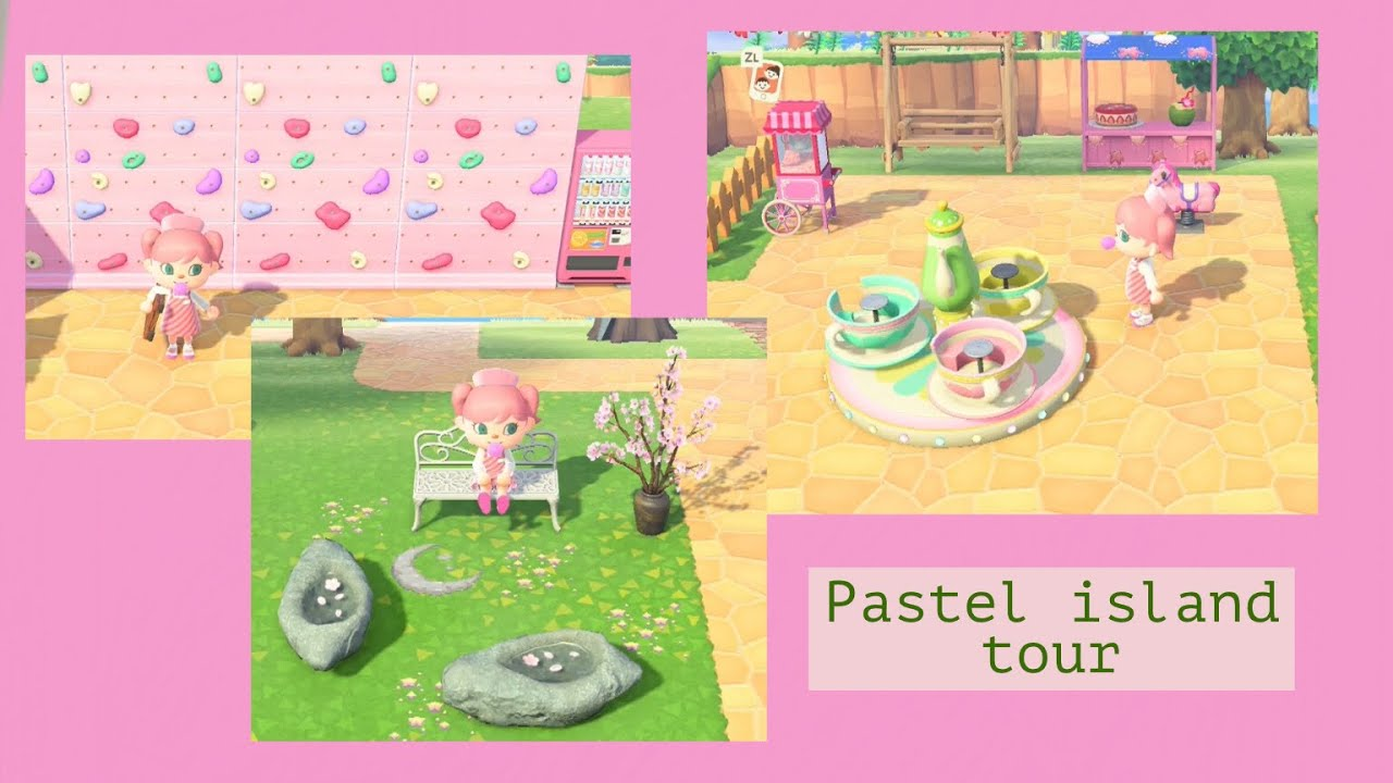 Pastel Island Tour Updated Animal Crossing New Horizons Youtube