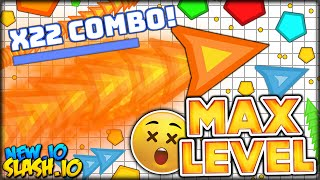 REACHING MAX LEVEL COMBO & KILLING THE #1 PERSON IN SLASH.IO (Sl4sh.io - like Agar.io / Slither.io)