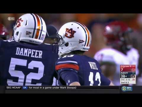 Auburn Offense vs Arkansas State Defense 2016