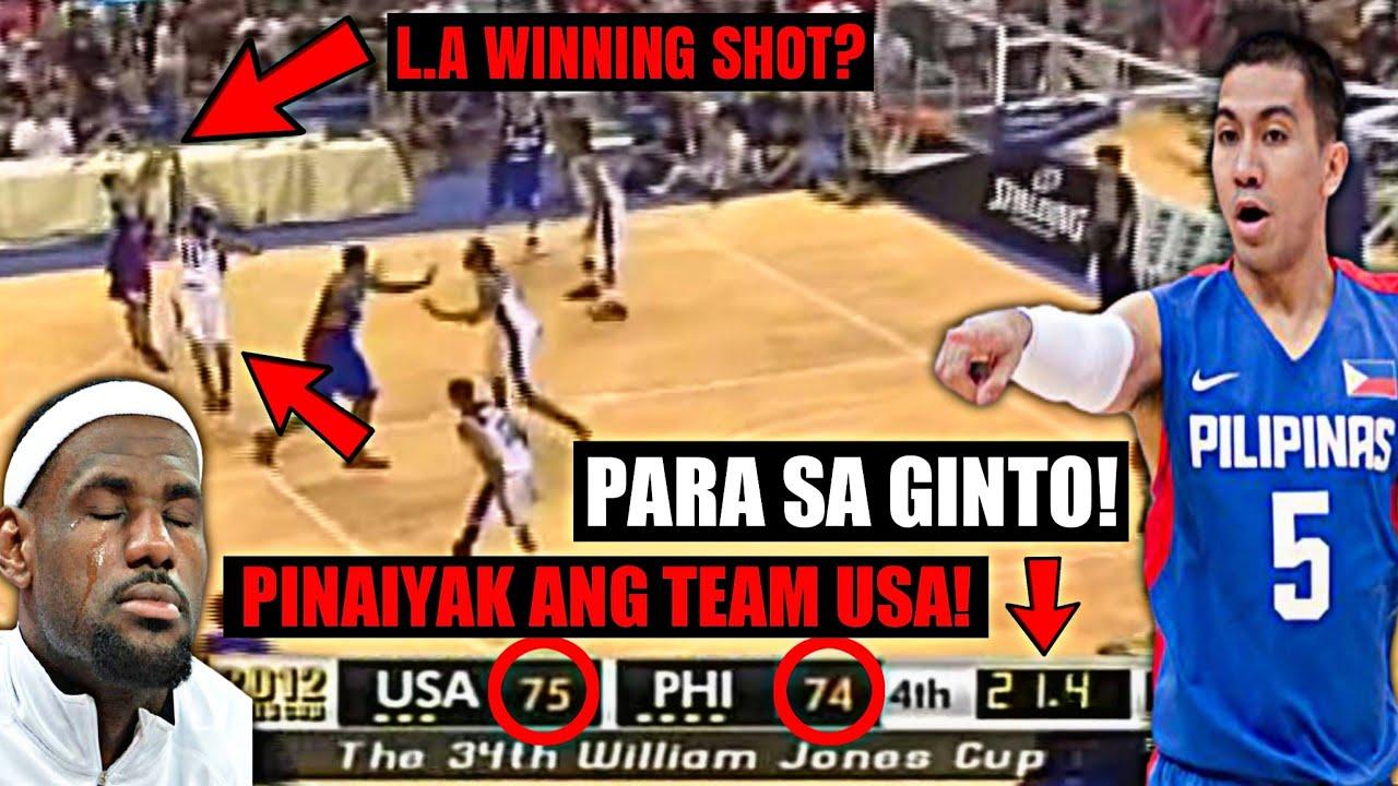 LA TENORIO AT GILAS PILIPINAS GINULANTANG ANG TEAM USA PARA SA GINTO! | 2012 WILLIAM JONES CUP