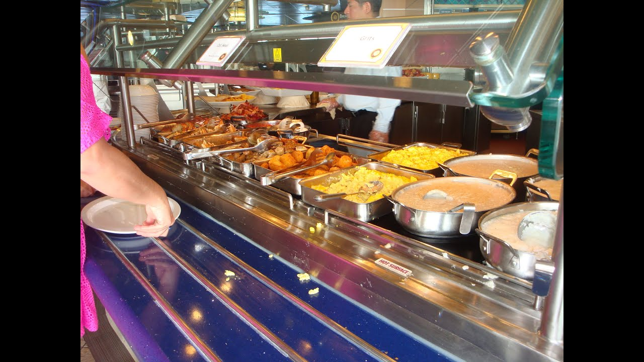 carnival ecstasy cruise breakfast buffet youtube