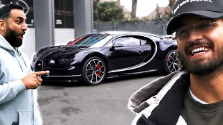 Lord Aleem Arrives in his £3 Million Bugatti Chiron for a Wrap!
