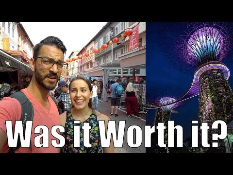 Singapore in 24 HOURS & On a Budget! Gardens by The Bay Cloud Forest & Chinatown!