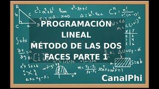 Programación Lineal. Método de las dos fases. Parte 1.