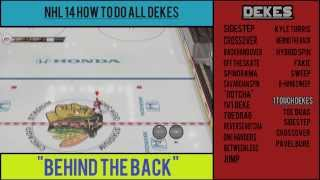 NHL 14: How to do All Dekes (Tutorial)