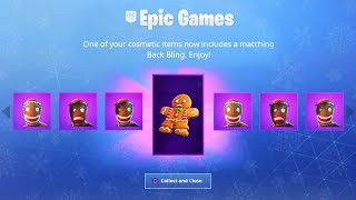 Comment UNLOCK New BURNT GINGERBREAD Christmas Skin Upgrades! (Nouvelle mise à jour Fortnite Christmas Skins)