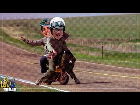Dois caras numa moto | LOL Ninja