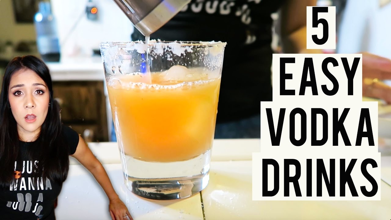 5 SUPER SIMPLE VODKA DRINKS! (+ tips for making good drinks)- #ThirstyThursday