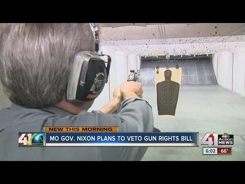 Gov. Nixon says he will veto sweeping Missouri gun rights bill