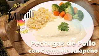 PECHUGAS DE POLLO CON CREMA DE JALAPEO - Receta Facil - Novateando en la Cocina - 4K