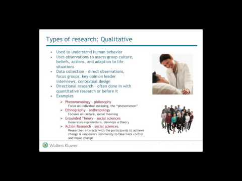 Types of Research Used for Evidence Based Practice