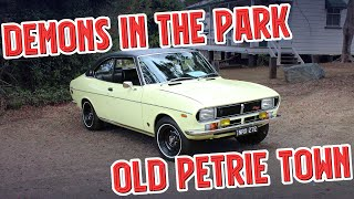 Pre-80s Event At Old Petrie Town, RX2 Capella, RA40 Celica, Holden HQ SS, Jaguar MkX