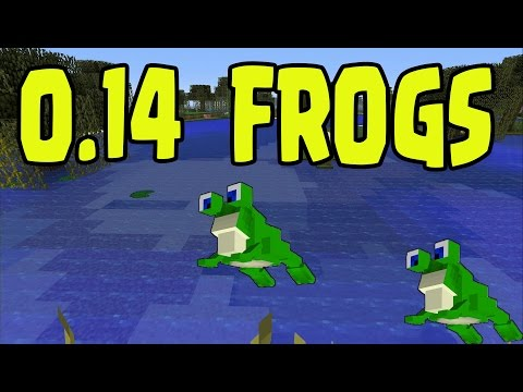 MINECRAFT POCKET EDITION - FROGS MOB - 0.14 Update MCPE (Pocket Edition)