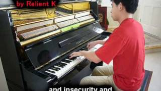 Relient K - Be My Escape (Piano Cover) Music Video