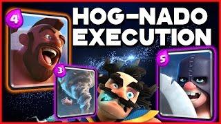 Clash Royale - Hog Rider-Executioner Deck! Feat. Electro Wizard & the Tornado!