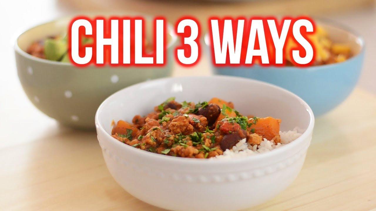 Turkey Pumpkin Chili 3 Ways
